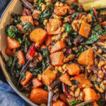 Walnut Squash Chard with Golden Raisins